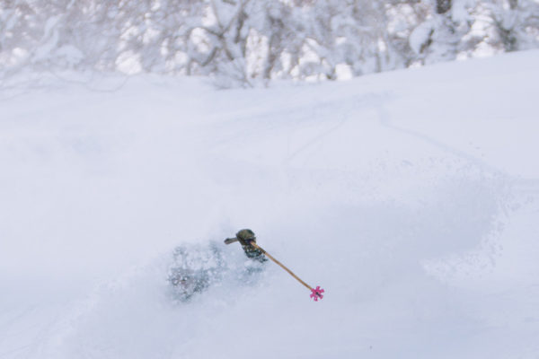 Blake bekken deep powder turns kiroro japan