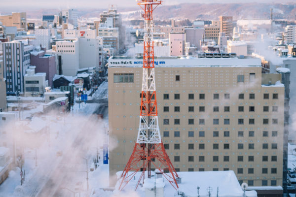 asahikawa japan radio tower golden hour