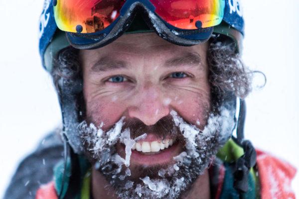 bryon friedman portrait snow mustache beard poc