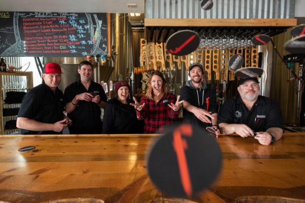 butcherknife-brewing-staff-throwing-coasters-at-camera-1